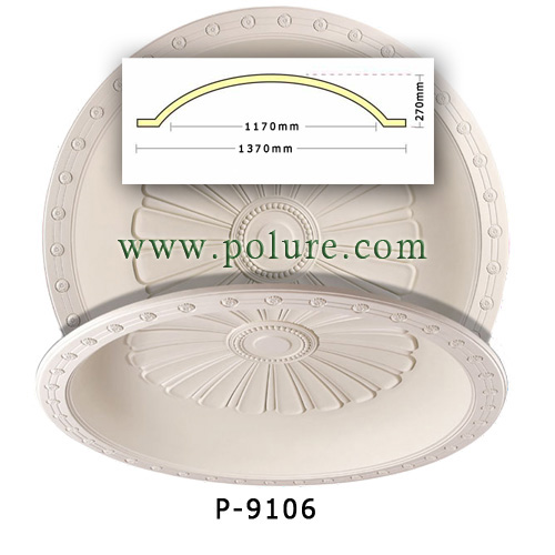 P-9106-polyurethane-decorative-ceiling-ornament-dome-model-leaf-painted-foam-pu-chandelier-classic-decoration-price (1)