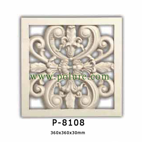 p-8108 polyurethane-decorative-transparent-mouldingpanel-pu-interior-exterior-decoration-profile-price