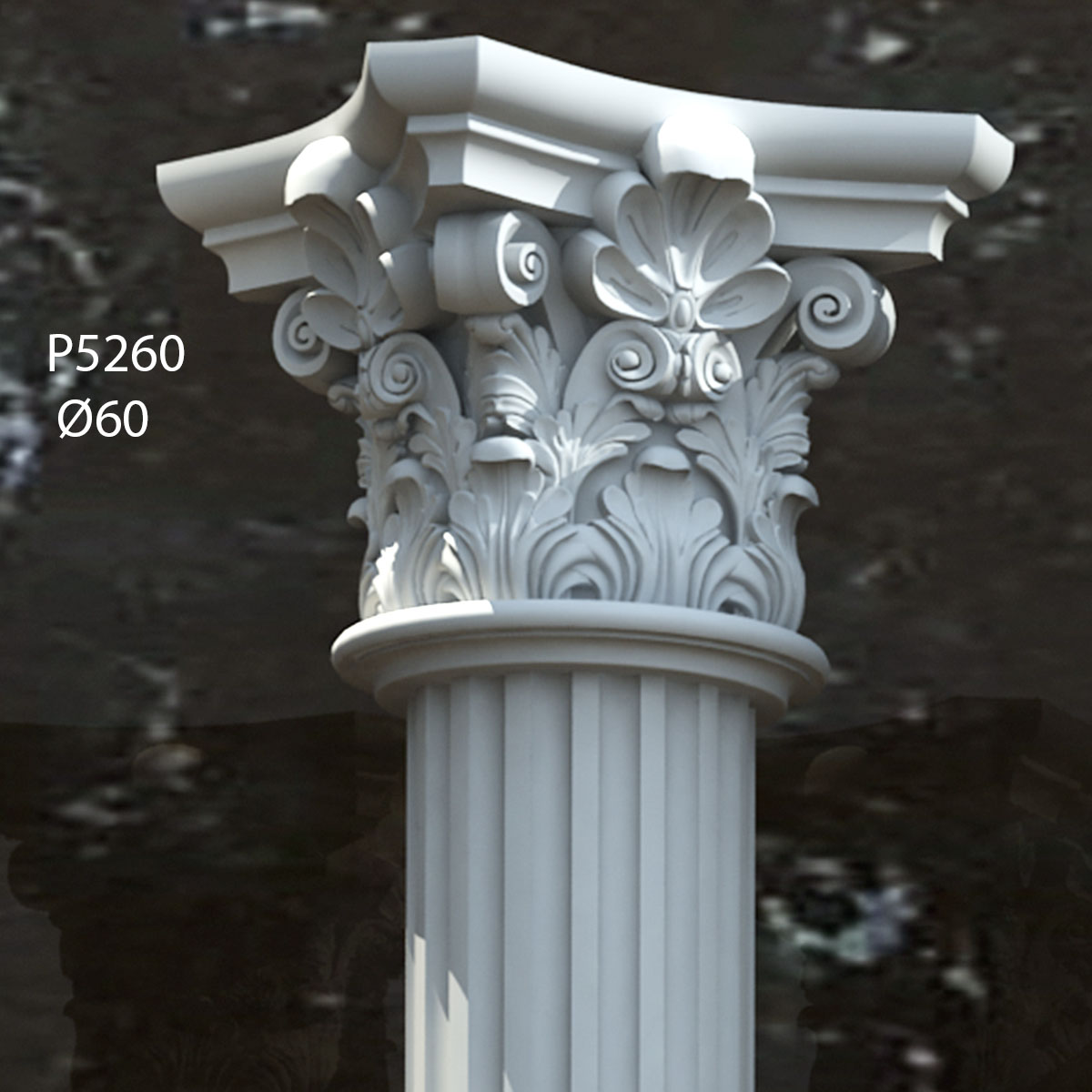P 5285 polyurethane corinthian column capital models for Exterior decorative columns