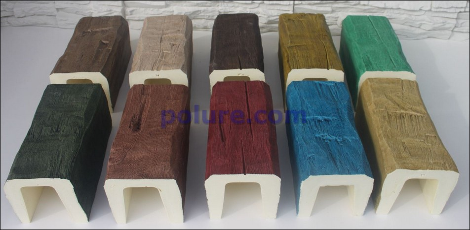 We represent 12*12 cm polyurethane ceiling blocks by painting with different 10 colors.
